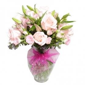 Florero de Nacimiento Mix Rosa