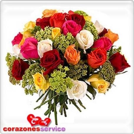 Ramo De Rosas 24 Mix