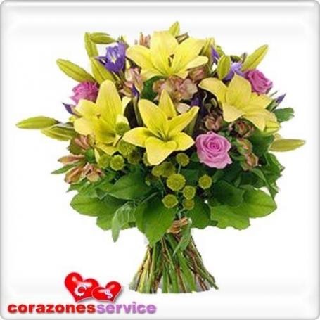 Ramo de FLores Lilium Amarillos