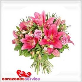 Ramo de Flores Tonos Rosa