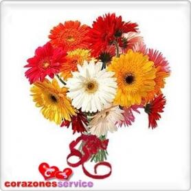 Ramo de Flores Gerberas Tonos Varios