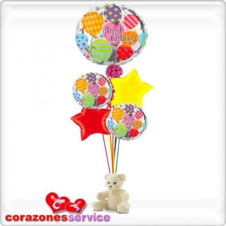 Globos con Helio para Cumpleaños